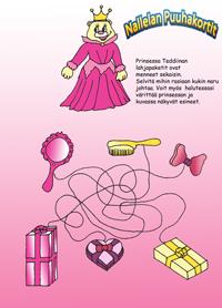 Prinsessa-Teddiinan-puuhakortti
