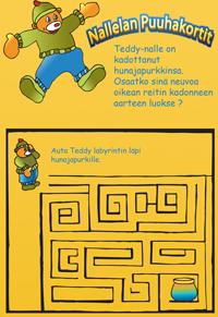 Teddy-nallen-puuhakortti